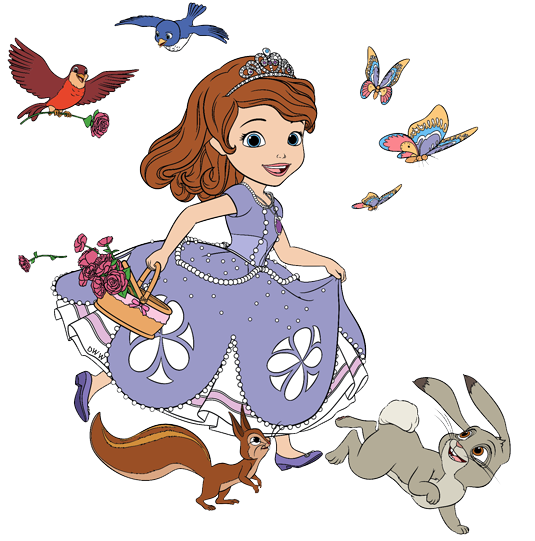 svg stock Animal friends clipart. Sofia and her by