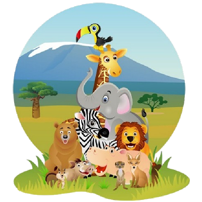 image free Picture of animated animals. Animal group clipart