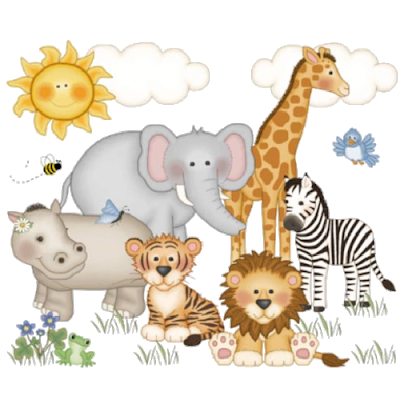 graphic download Animal group clipart. Baby groups cartoon clip
