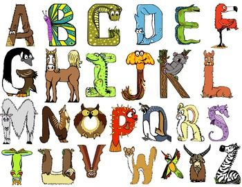 banner library Free themed alphabet early. Animal letters clipart