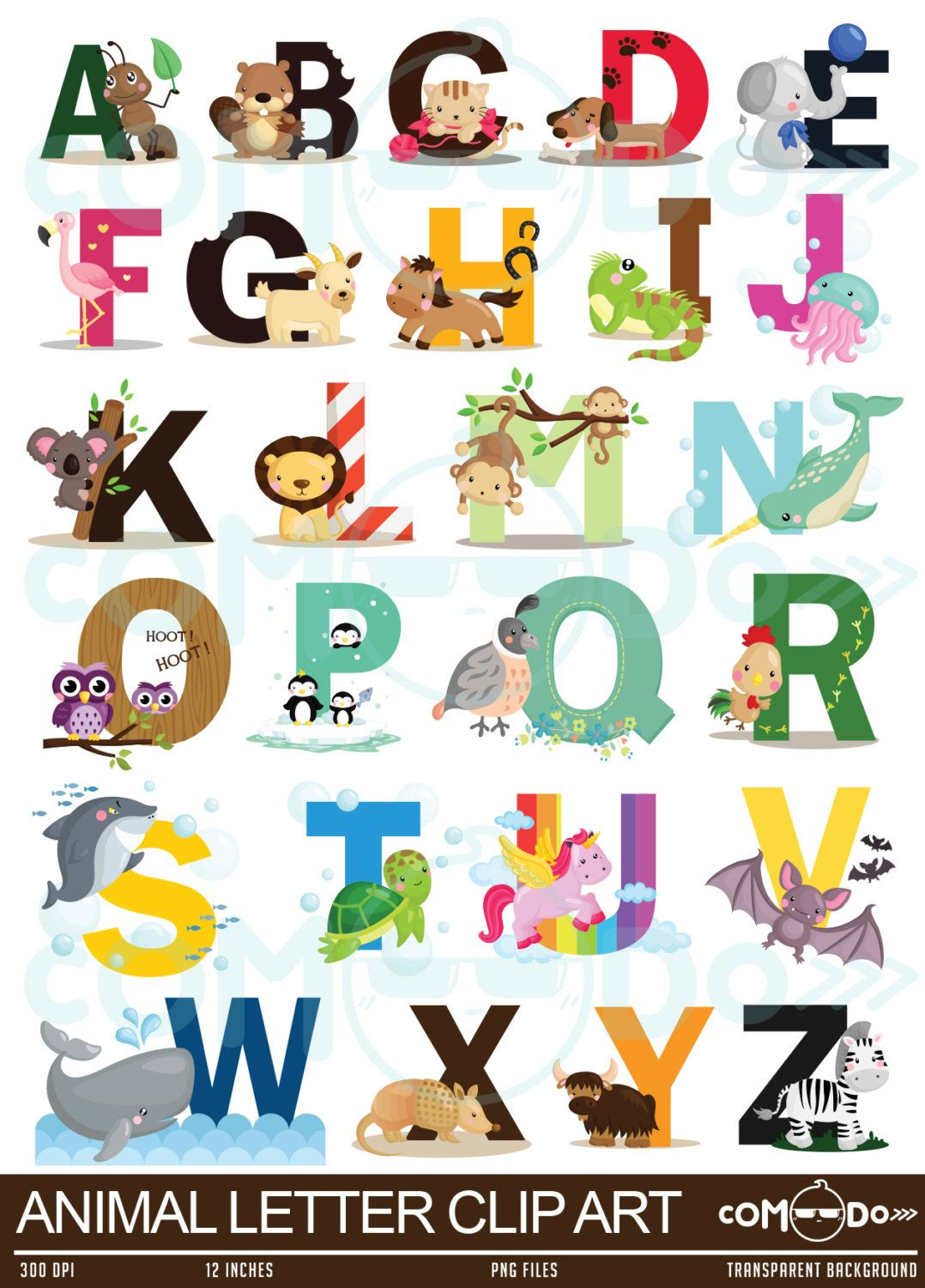 png library Animal letters clipart. Letter clip art