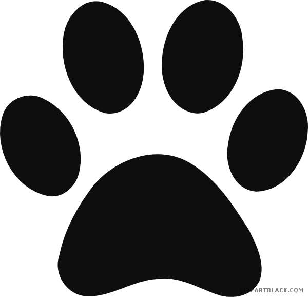 svg freeuse Grayscale print clipartblack com. Animal paw clipart