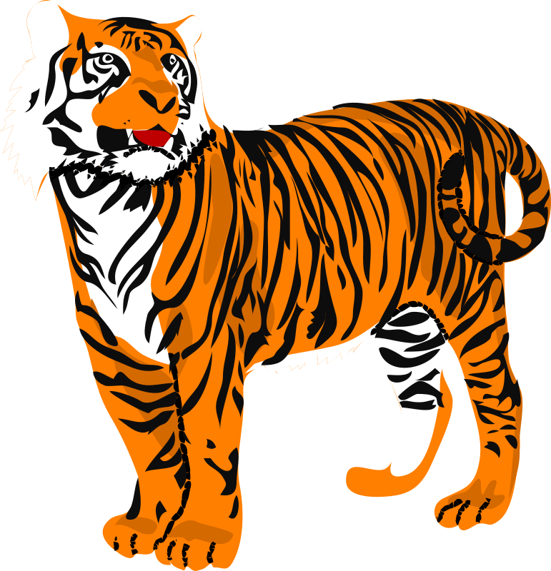 clipart freeuse stock Animal print clipart. Tiger clip art royalty