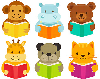 clipart royalty free library Free cliparts download clip. Animal reading clipart