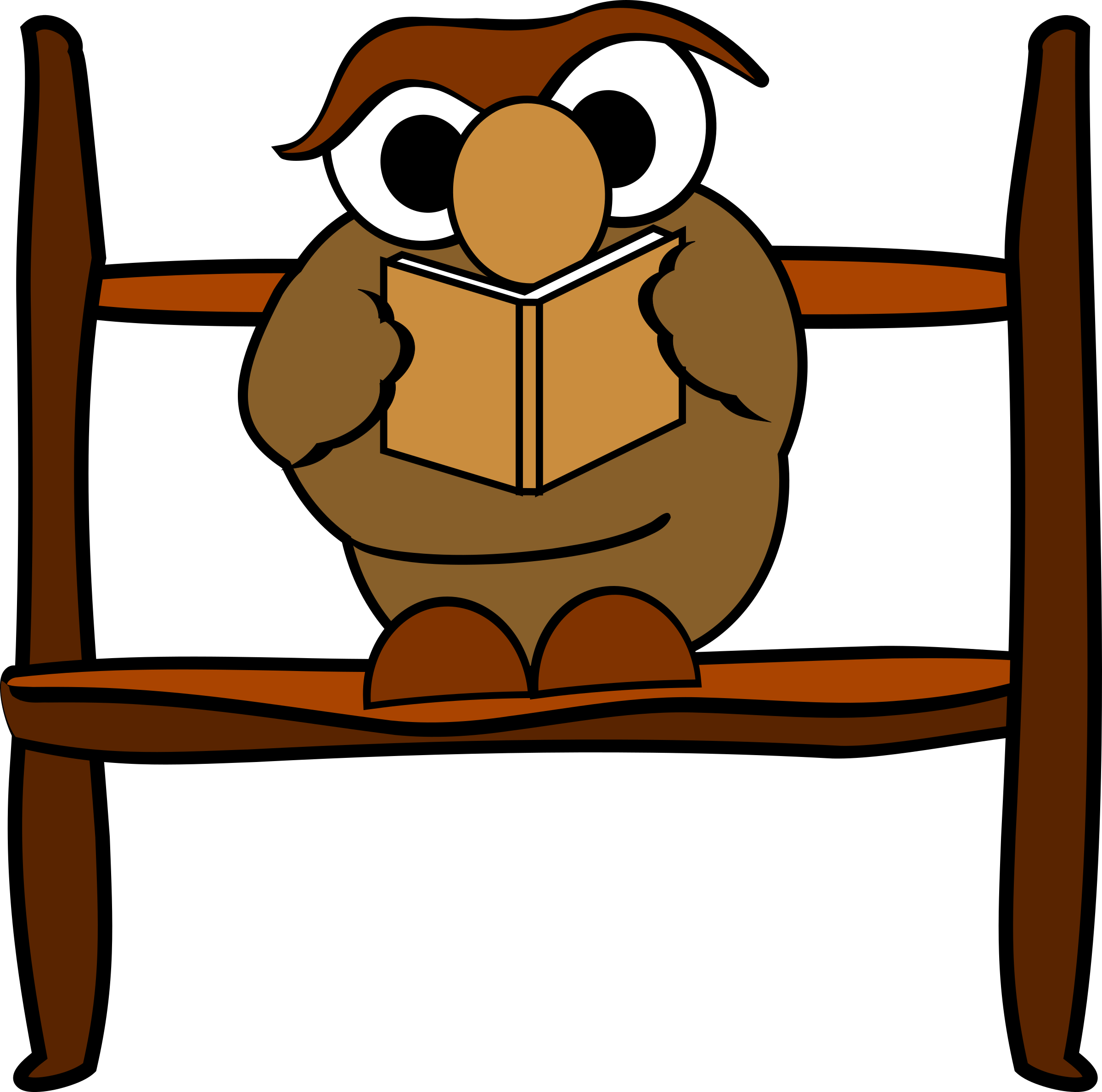 vector transparent library Owl big image png. Animal reading clipart