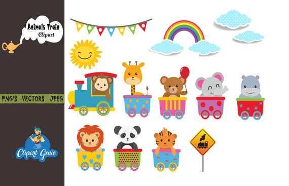 svg royalty free download Animals zoo choo baby. Animal train clipart