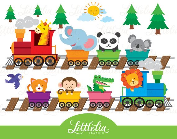 picture library Animal train clipart. Zoo products
