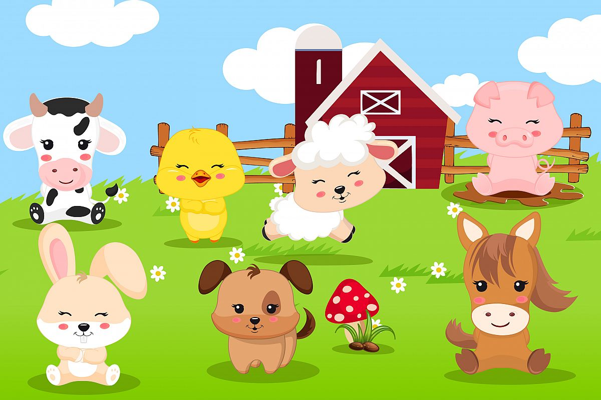 clip art freeuse stock Graphics . Farm animal clipart
