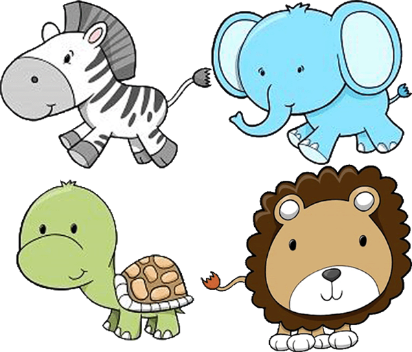 banner library download Free baby animal clipart. Clip art zoo animals