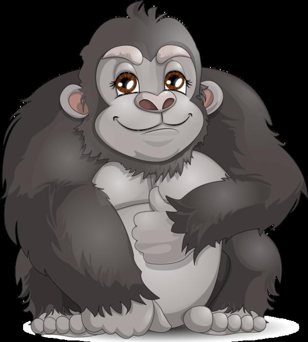 png transparent Clip art zoo jungle. Animals clipart gorilla
