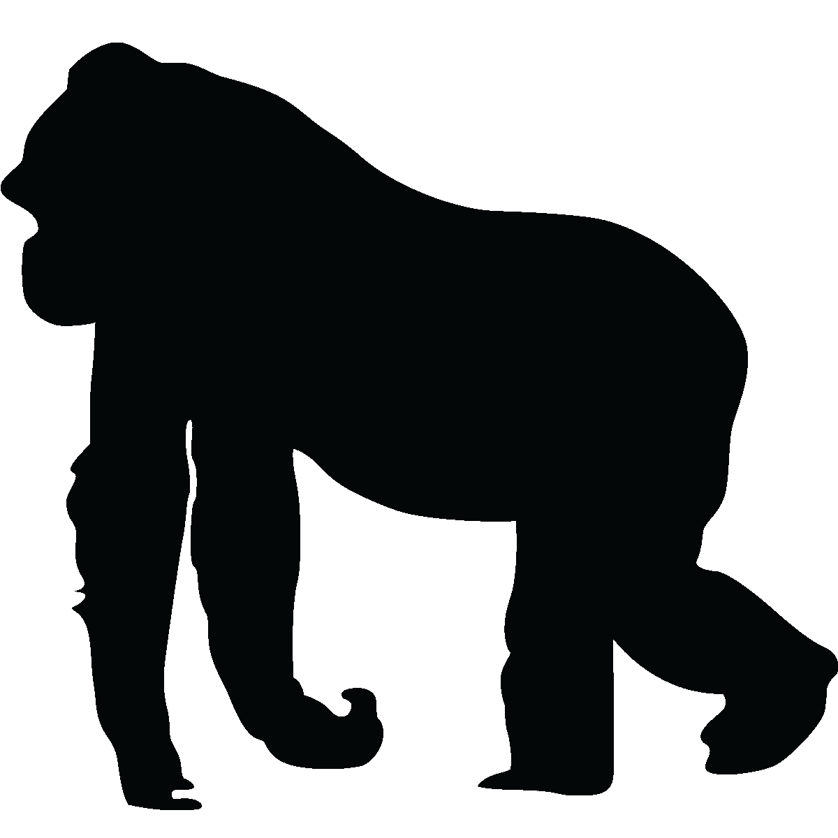 clipart royalty free Animals clipart gorilla. Silhouette wall dec more