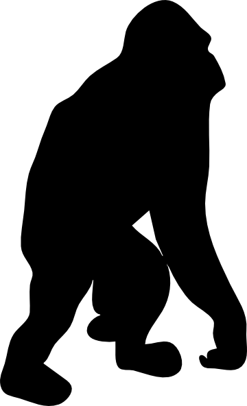 clip art free download Gorilla Silhouette at GetDrawings