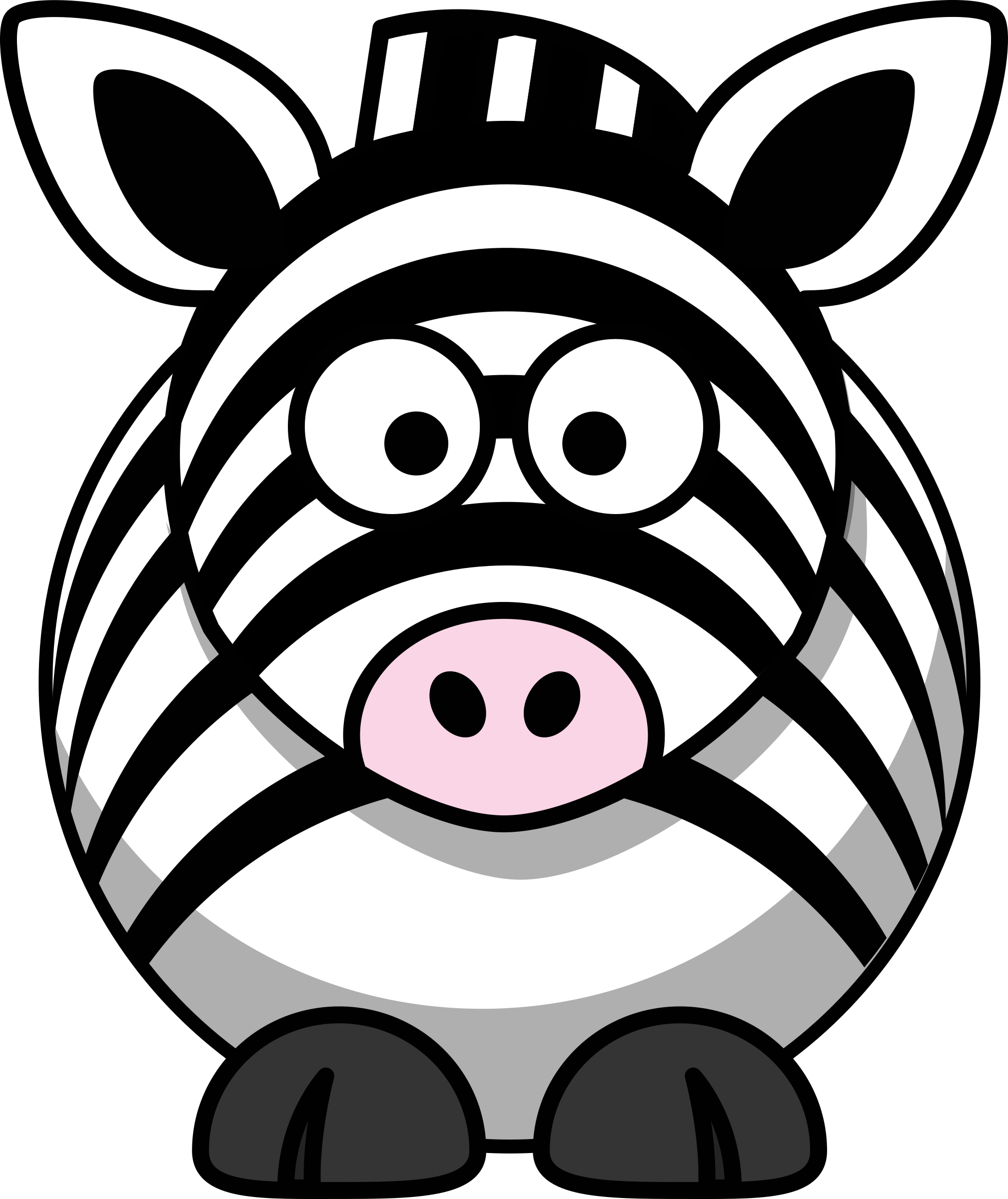 graphic free library Clipart zebra. Cartoon big image png