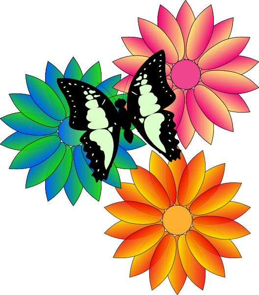 svg royalty free download Flowers and butterflies butterfly. Animated clipart flower.