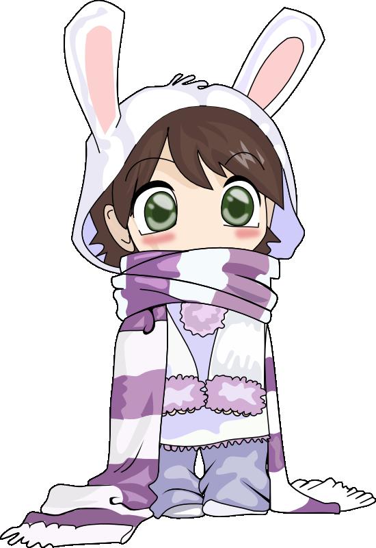 image library Anime Little Girl Clipart