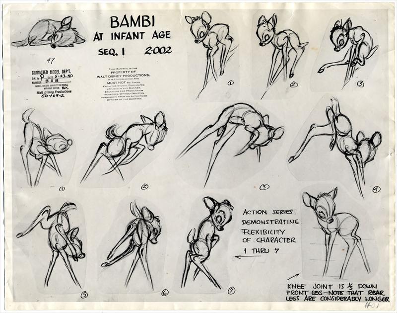 png freeuse Animator drawing bambi. Auction howardlowery com disney.