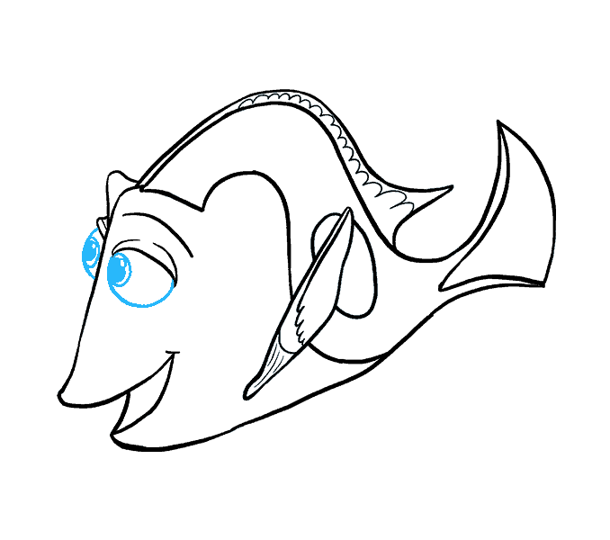 svg black and white Scared drawing deep. Scary fish at getdrawings