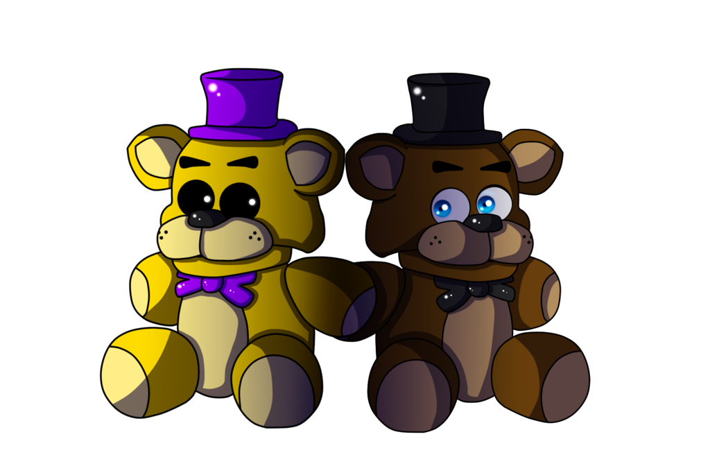 vector royalty free library Plushie and freddy by. Fredbear drawing plush