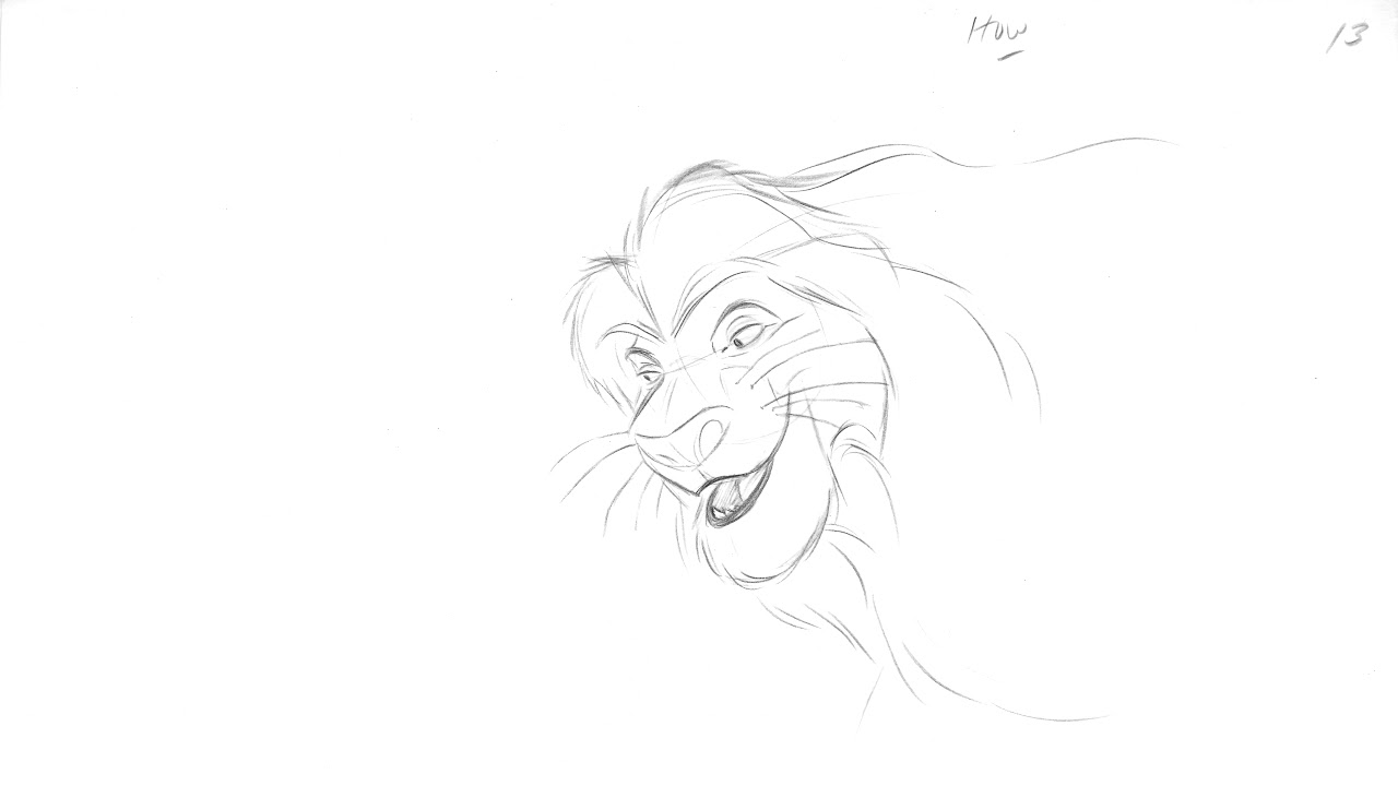 image free download Mufasa drawing animation. Lion king pouncing lesson