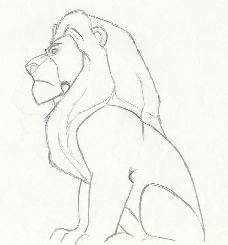 image transparent Auction howardlowery com disney. Mufasa drawing animation