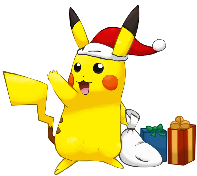 png free library Pikachu free on dumielauxepices. Anime clipart christmas.