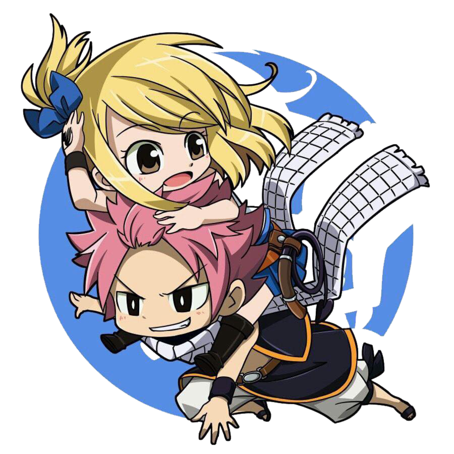 clip royalty free stock Anime clipart fairy tail. Render nalu chibi by.