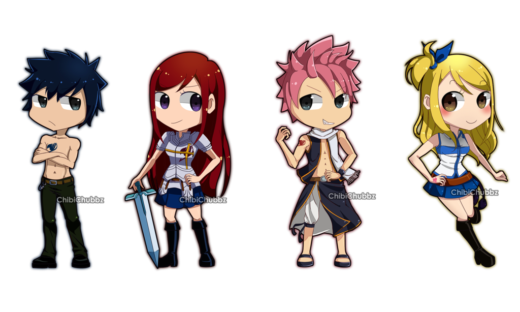 clip art royalty free Anime clipart fairy tail. Chibi by chibichubbz on.