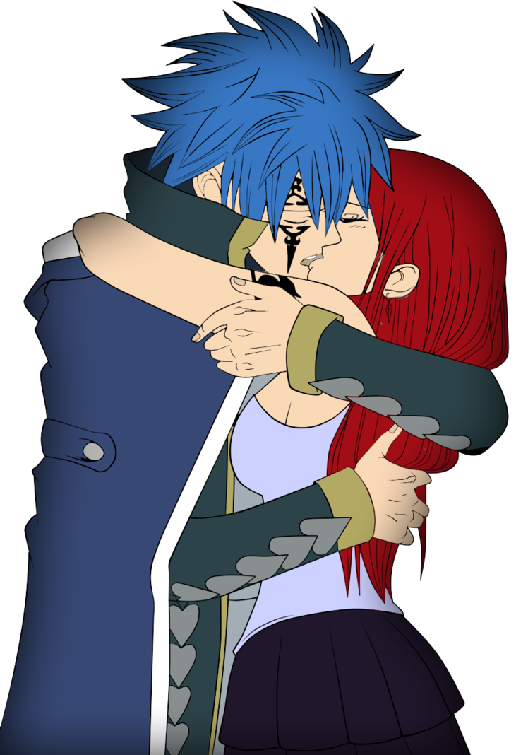 graphic transparent Jellal x erza by. Anime clipart fairy tail.