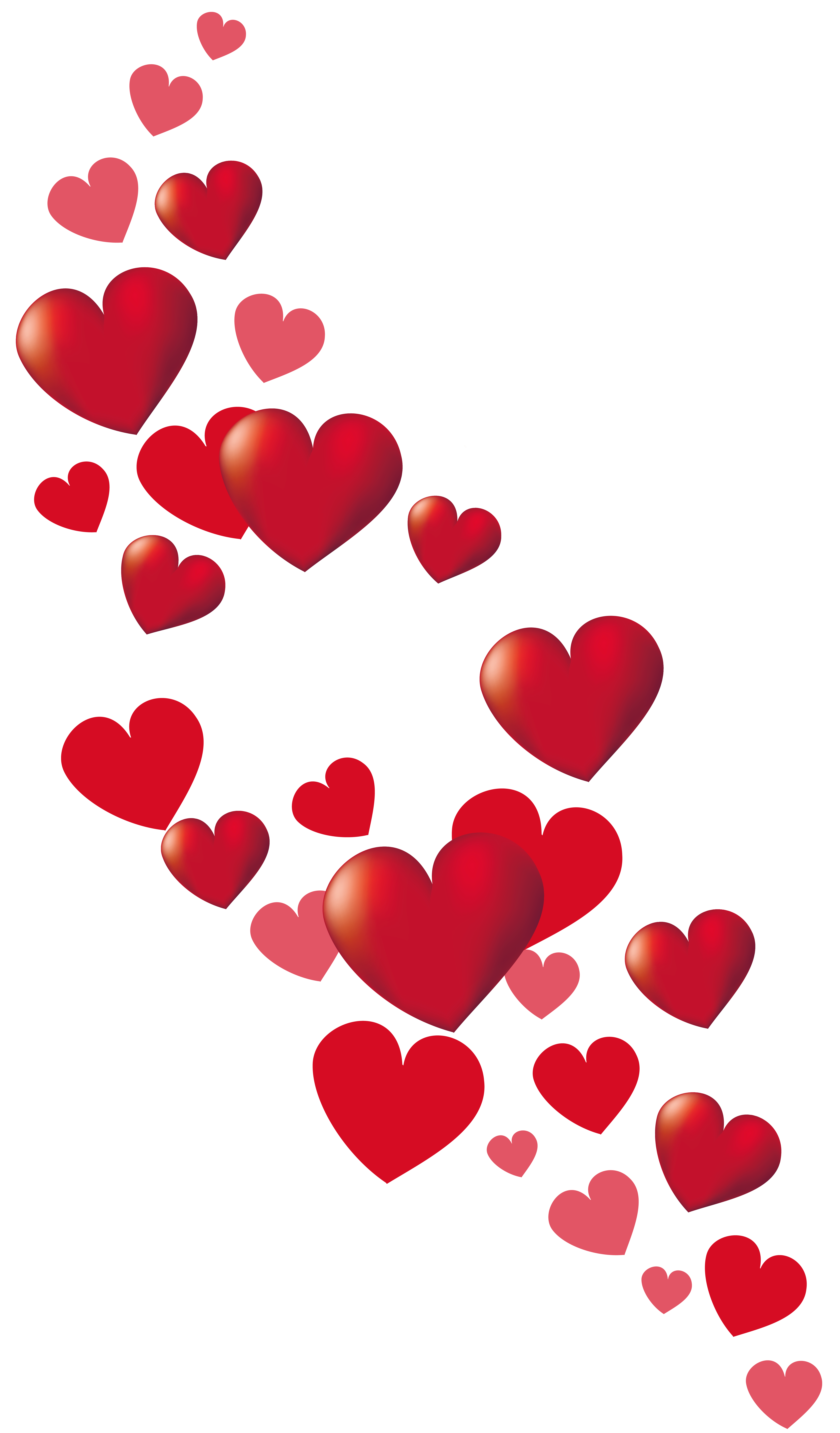clipart transparent library Anime clipart valentines day. Valentine hearts decor png.