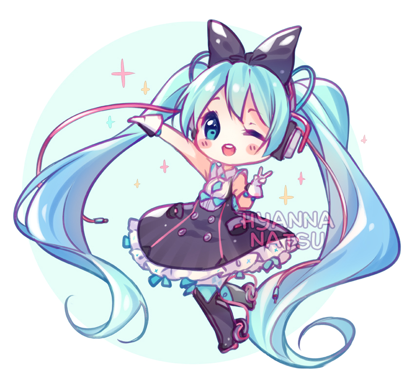 graphic royalty free Anime clipart vocaloid. Fanart miku magical mirai.