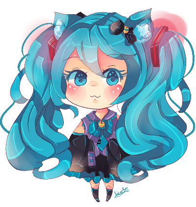 png stock Anime clipart vocaloid. Hatsune miku neko by.
