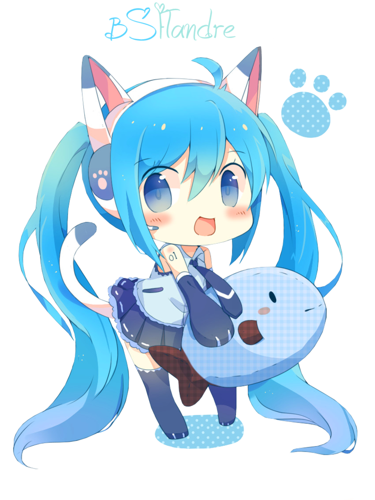 image royalty free Anime clipart vocaloid. Render hatsune miku by.