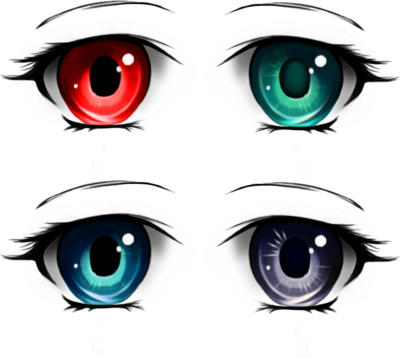 vector royalty free download anime eyes pack by tashamille on DeviantArt