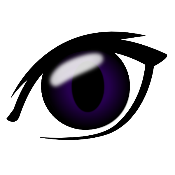 graphic library library Anime Eye Clip Art at Clker