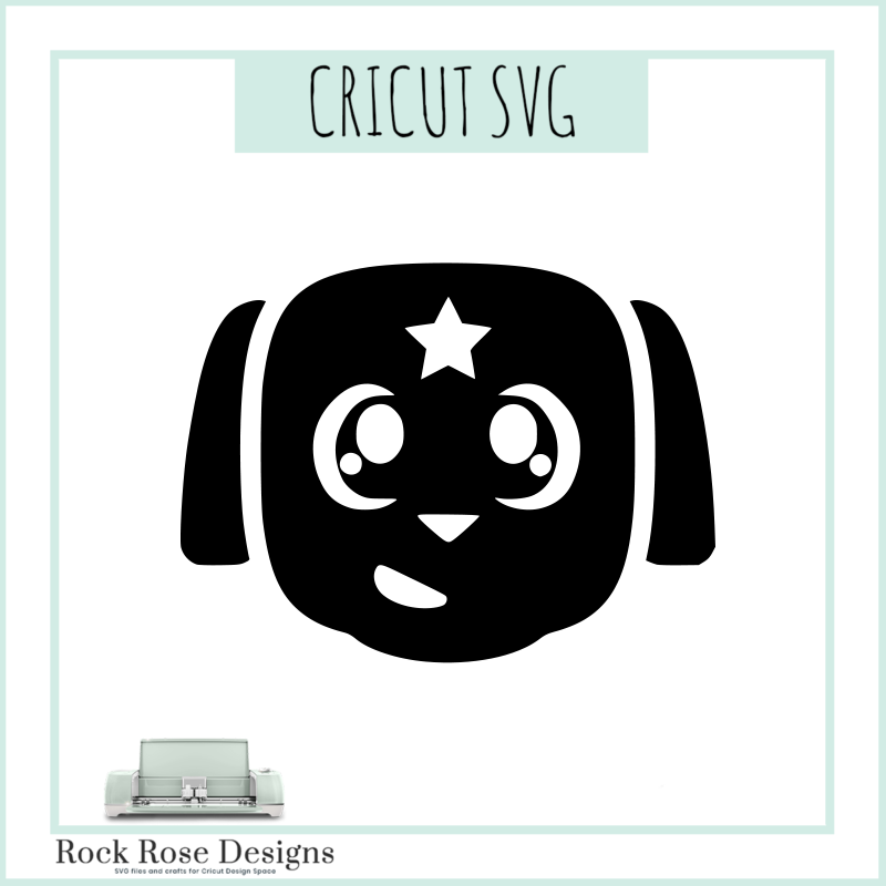 clip black and white Anime svg. Dog cut file