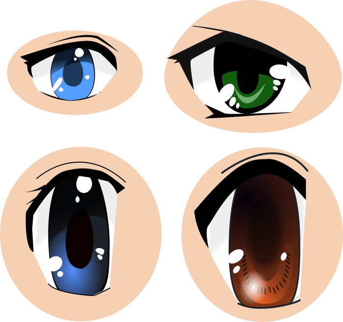 clip art library library Eyes images cc by. Anime svg vector