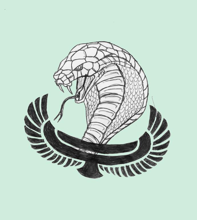 clipart black and white stock cobra egypt by lesniper