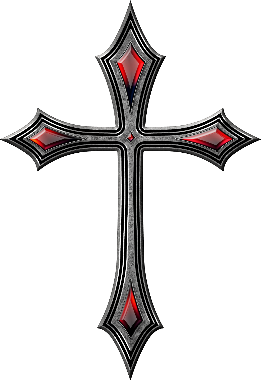 image transparent download Vector emblem gothic. Cross drawing tattoo krzy