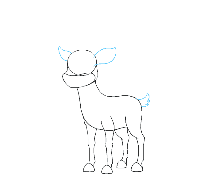 clip art freeuse stock How to Draw a Reindeer in a Few Easy Steps