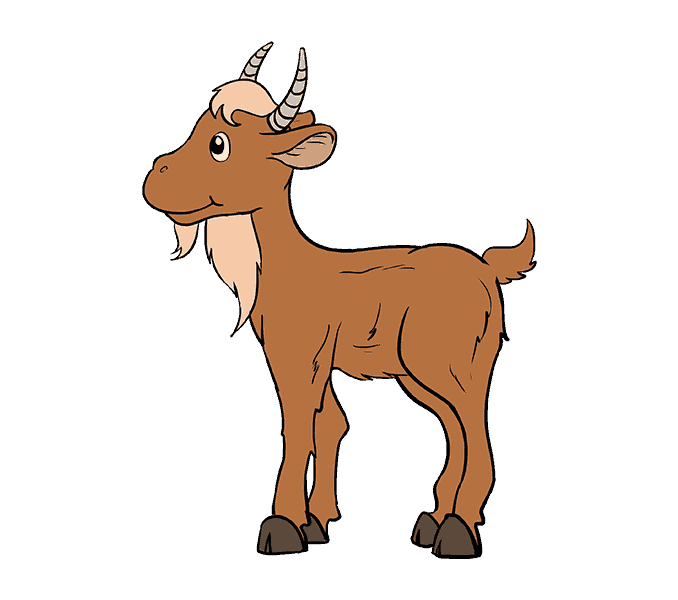 clipart free How to Draw a Cartoon Goat in a Few Easy Steps