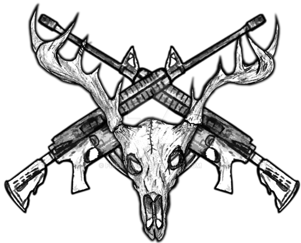 clip art royalty free download Deer Skull Drawing at GetDrawings