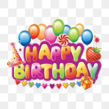 png royalty free Vector balloon happy birthday.  decorative text