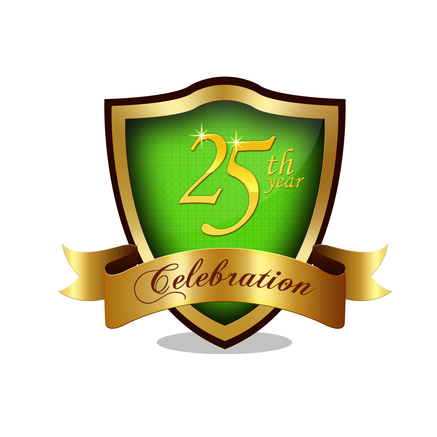 clipart royalty free stock Vector crest anniversary. Party the broach school