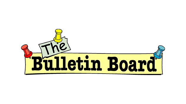 picture royalty free library Chambana free board asian. Bulletin clipart business announcement.