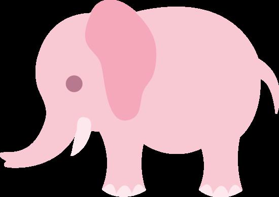 free Announcement clipart elephant. Little pink clip art.