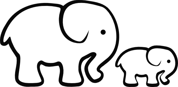png transparent baby elephant clipart outline #57163100
