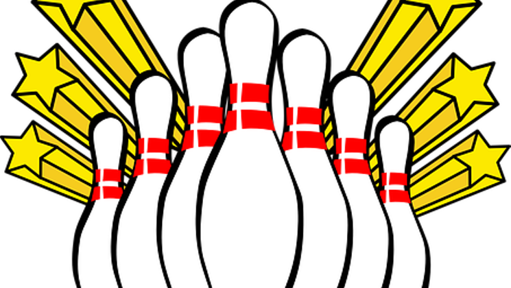 banner royalty free Fun bowling a league. Announcement clipart family event.