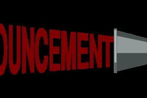 clip royalty free . Announcements clipart announcement banner
