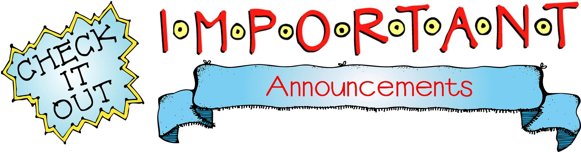 image free library Announcements clipart anouncement. Best of announcement collection