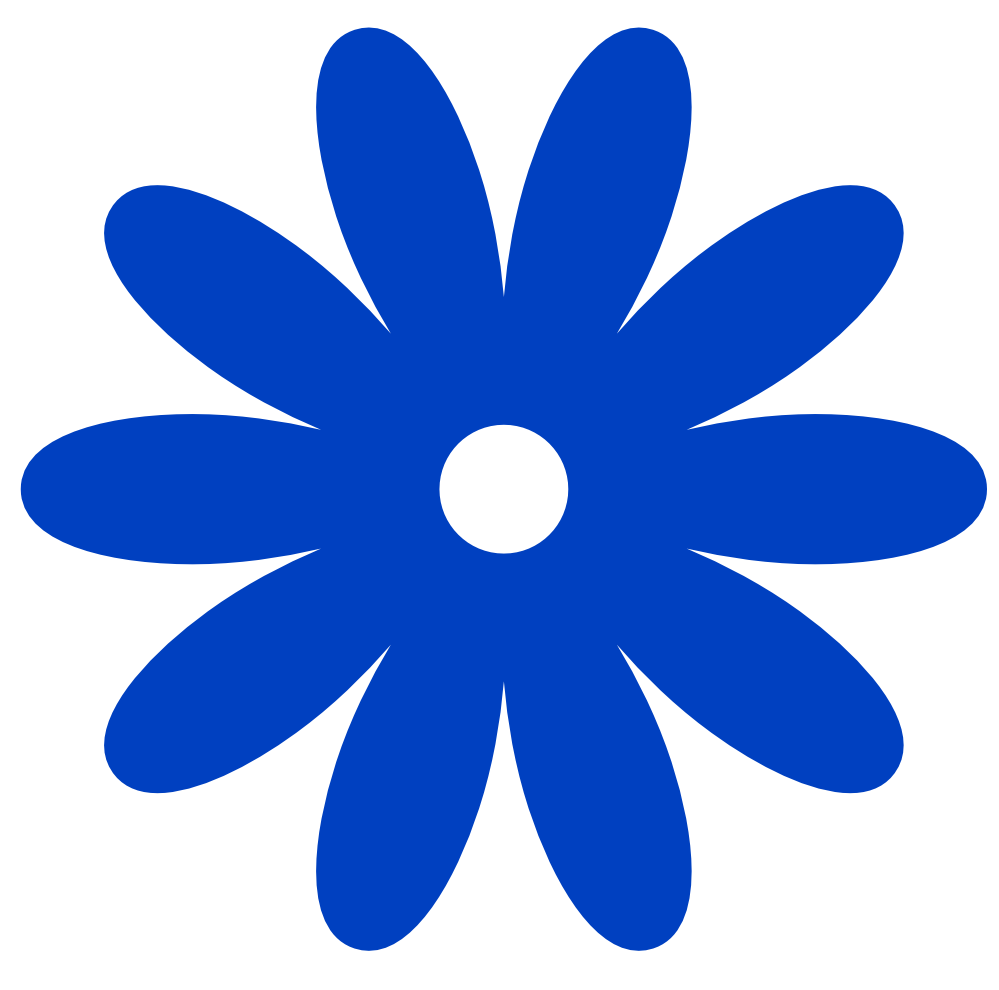 clipart transparent library Blue Flower Clipart little flower